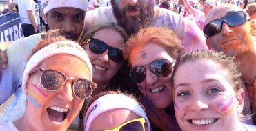 Simmons Gainsford team raises £1900 for charity Colour run
