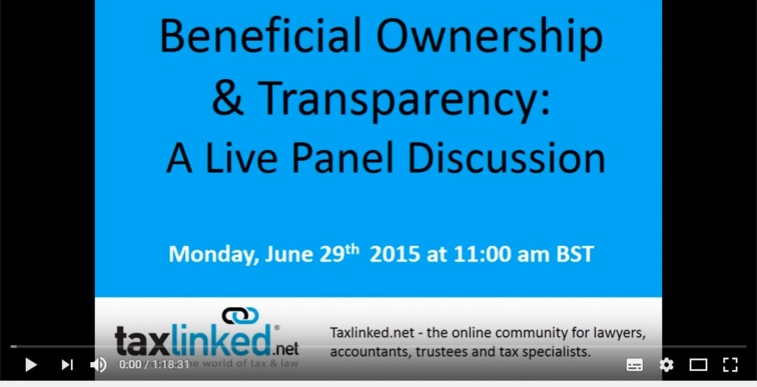 TaxLinked Live Panel on Beneficial Ownership and Transparency