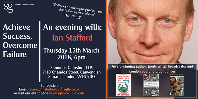 An evening with Ian Stafford2
