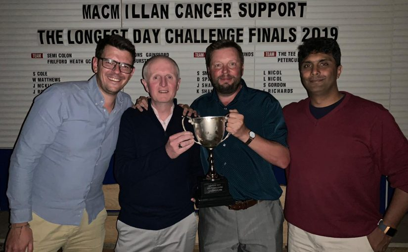 Simmons Gainsford Raise £18K for Macmillan and are Crowned Golf Champions